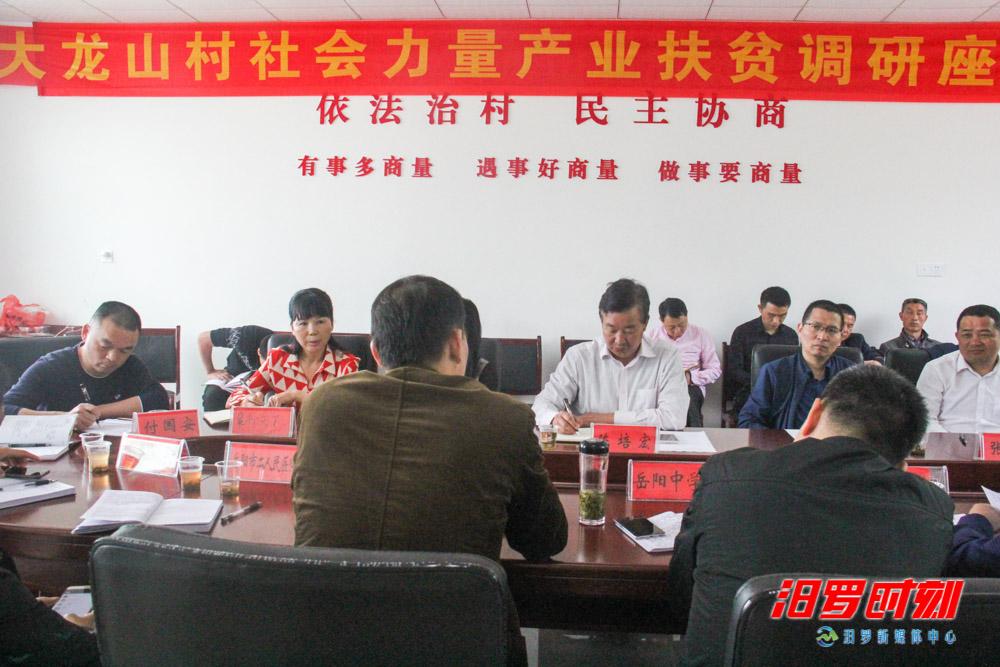 陈培宏赴大龙山村推进社会力量产业扶贫工作