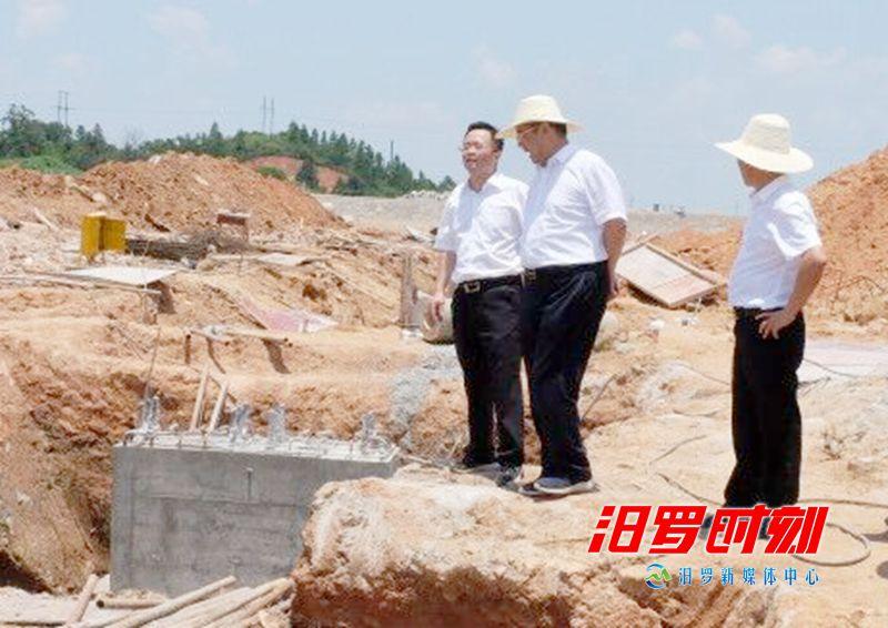 徐新楚来汨督导园区重点项目建设