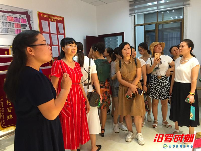 湘潭市高新区妇联来汨考察基层妇联改革工作