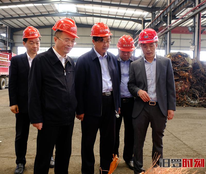 山西昔阳县考察团来汨考察循环经济产业发展